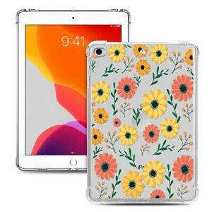Soft TPU Flowery Back Cover Snap-on Case for iPad Mini 1/2/3/4/5 - Daisy