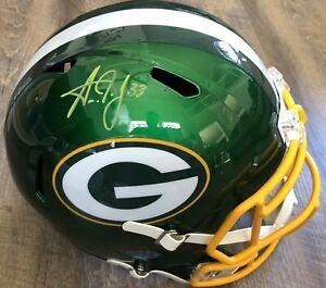 Aaron Jones Autographed Green Bay Packers FS Replica Helmet - Flash Beckett
