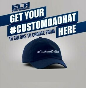 Custom Personalized Embroidered Text Dad Hats Cap Baseball Cap Hat