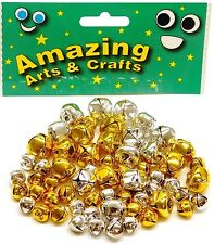 60 Gold & Silver Jingle bells, 10mm & 15mm by Amazing Arts and Crafts