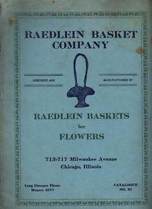 Wicker Catalog 1920s-RAEDLEIN BASKET CO-Chicago-Wicker Baskets, Lamps, Furniture