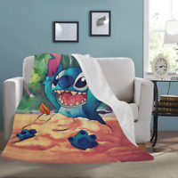 New Custom Lilo and Stitch Ultra-Soft Micro Fleece Soft Bed Throw Blanket