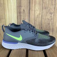 Nike Odyssey React 2 Flyknit AH1015 401 Armory Blue/Lime Blast Mens Size 11 r