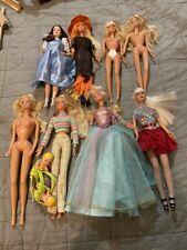 Lot Of 8 Barbie Dolls Some Vintage 1966 Twist & Turn Witch Dorthy Twins Baby