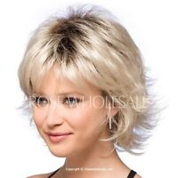 Graceful Slightly Fluffy Wavy Blonde Short Synthetic Wig Hair For Women