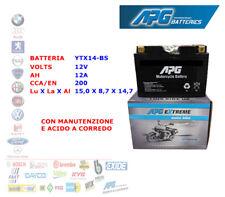 BATTERIA MOTO SCOOTER QUAD 12V 12A CCA/EN 200 YTX14-BS APG EXTREME XETX14BS