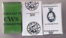 WW2 SET OF 3 DUMMY BRITISH HOMEFRONT ECONOMY SOFT  CIGARETTE PACKETS (REPRO)