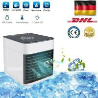 DE Mini Luftkühler Klimageräte Klimaanlage Air Cooler Fan mobile Befeuchter DHL