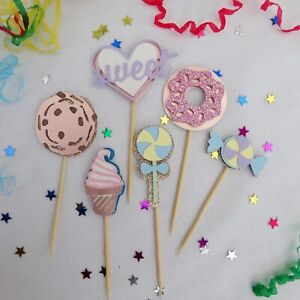 Cupcake Toppers Candy Themed