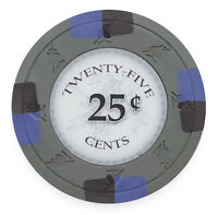 NEW 100 Gray 50¢ Cent Monte Carlo 14 Gram Clay Poker Chips Buy 3 Get 1 Free