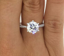 CERTIFIED 2.0 CT ROUND CUT D/SI1 DIAMOND SOLITAIRE ENGAGEMENT RING 14K GOLD