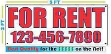 FOR RENT w CUSTOM PHONE Banner Sign NEW Larger Size Best Price for The $$$