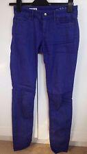 GAP bleu électrique Skinny Jeans 25 in (environ 63.50 cm) taille 32 in (environ 81.28 cm) Jambe FANTASTIC CONDITION
