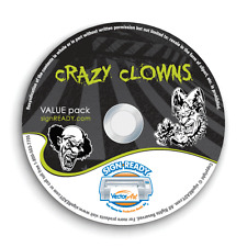 CLOWNS CLIPART-VECTOR CLIP ART-VINYL CUTTER PLOTTER IMAGES & T-SHIRT GRAPHICS CD