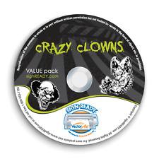 CLOWNS CLIPART-VECTOR CLIP ART-VINYL CUTTER PLOTTER IMAGES & T-SHIRT GRAPHICS CD