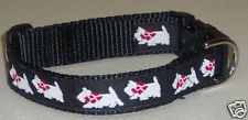 WESTIE COLLAR BLACK TRADITIONAL FREE SHIP USA