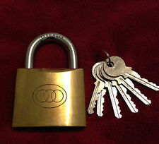 JUMBO DELUXE MAGIC ESP LOCK / MENTAL magic / CORRECT KEY [ 63mm BRASS PADLOCK]