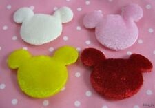 100 Mixed Cute Velvet Mouse Appliques for Scrapbook/Cards/Craft