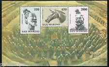 San Marino 1986 blok 10 15 jaar diplomatieke betrekkingen China -Terracottaleger