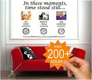 IN THESE MOMENTS TIME STOOD STILL Quote Stickers, Wall Decals, Words Lettering