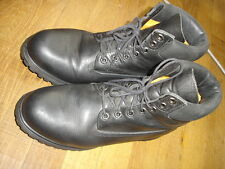 Timberland Bottes Chaussures en cuir noir Taille 11W =45,5 Ref : 15
