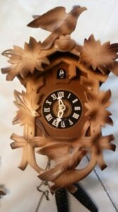 Vintage Working Linden Black Forest Cuckoo Clock - Made in Germany