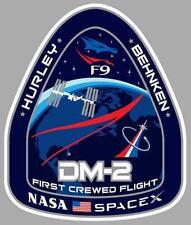 DM-2 NASA SPACEX Sticker vinyle laminé