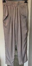 Gold Hawk Mocha Colour Harem Style Trousers. Size L. Worn.