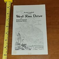 GUIDE LEAFLET OF THE WEST RIM DRIVE GRAND CANYON NATIONAL PARK 1940 #3 ARIZONA