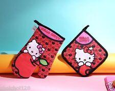 Hello Kitty Red Apple Cotton Quilted Hot Mitt Oven Kitchen Cooking Gloves KK550