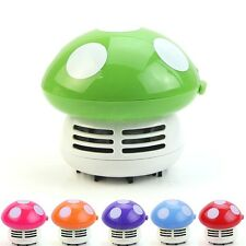 1pc Cute Mini Mushroom Vacuum Desk Table Dust Cleaner Sweeper Corner