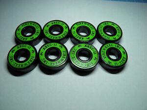 8 x FIREWHEEL-INC ABEC 11 SKATE BOARD SCOOTER BEARINGS *NEW* GREEN SHIELDS