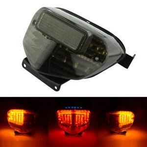 Smoke LED Tail Light Brake Turn Signal For 00-03 Suzuki GSXR GSX-R 600 750 1000