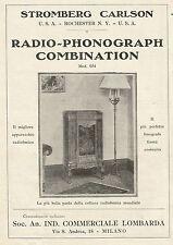 W0068 Stromberg Carlson - Radio Phonograph Combination - Pubblicità 1930 - Adv.