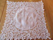 Stunning Vintage Wedding Antique handmade L.ace Cotton Lawn  Handkerchief Hankie