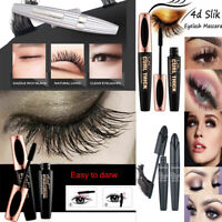 4D Silk Fibre Mascara Eyelash Extension Volume Make Up Long Lasting Waterproof