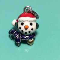 BRIGHTON ABC HOLIDAY Snowman Face Christmas  CHARM NWOT