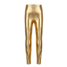 128d682dcbf Girls Metallic Shiny Dance Leggings Pants Camisole Tank Top Dance Wear  Costumes