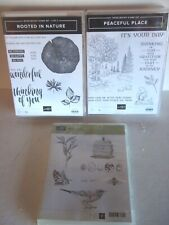 Stampin Up Ink Stamps (3 Packs) Peaceful Place Rooted In Nature Nature Walk