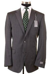 NEW Ike Behar Made in Canada Gray Pindot Woven Wool Sport Coat Jacket Blazer 44L