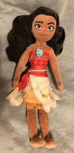 "Disney Store MOANA 20"" Stuffed Plush Doll Toy Authentic Medium"