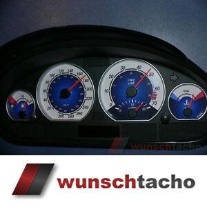 Tachoscheibe für Tacho BMW E46 Diesel Blue 310 Kmh M3..