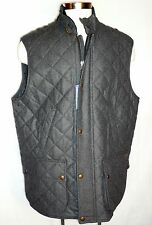 Mens Ralph Lauren Polo Diamond Quilted Wool Vest  Color - Charcoal Size 2XT