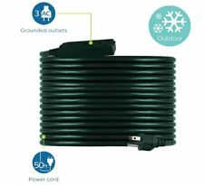 Philips 50 Ft. Outdoor Extension Cord 3 Outlet Green