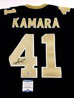 Alvin Kamara Autographed/Signed Jersey Beckett COA New Orleans Saints