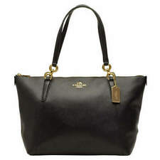COACH F57526 Ava Tote Crossgrain Leather Handbag - Chalk