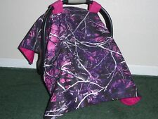 **MOONSHINE MUDDY GIRL** Camo  Handmade Baby Infant Car Seat Canopy-Cover