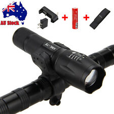 Zoomable 5000lm XML T6 LED Flashlight Torch Bicycle Front Light+Bike Mount+18650