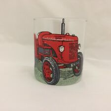 DAVID BROWN CROPMASTER TRACTOR  ON  EXTRA LARGE  HEAVEY BASE WHISKY TUMBLER