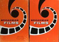 Vintage Film Strips Filmstrips w Cassette Tapes Bible Study Sunday School Lesson